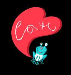 Love with a frog vector