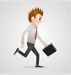 Office man running vector