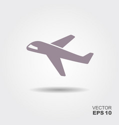 plane icon in flat design style vector image