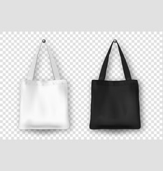 realistic black and white empty textile vector image