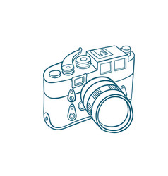 Retro photo camera vector