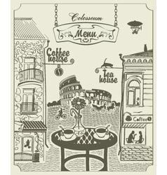 Rome cafe vector