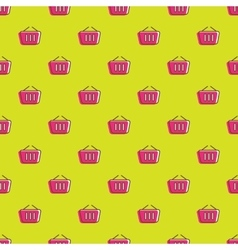 shopping cart icons seamless pattern vector image