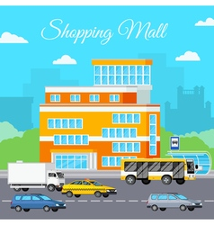 Shopping Mall Urban Composition vector