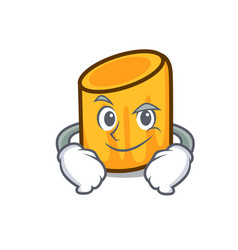 smirking rigatoni character cartoon style vector image
