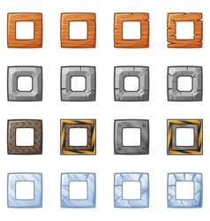 Square Blocks For Physics Game 2 vector