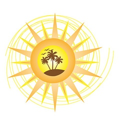 Summer logo sign vector image