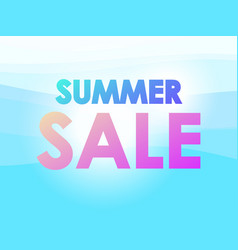 summer sale marine background with sunbeams on vector image