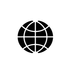 the globe icon black on white vector image