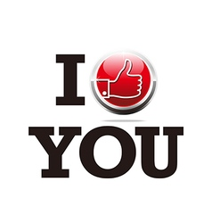 Thumb up i like you design symbol vector
