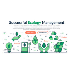 Web site header - successful ecology management vector