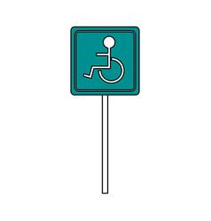 Wheelchair street sign vector