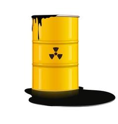 Yellow metal barrel vector
