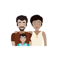 couples relationship family child vector image vector image