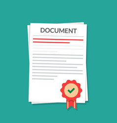 document with a seal natorially certified power vector image vector image