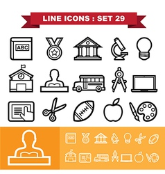 Line icons set 29 vector image vector image