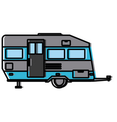 trailer home isolated vector image vector image
