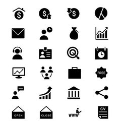 Business Icons 3 vector image