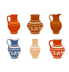 Set of ceramic crockery vector