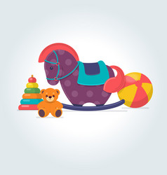 set of different kids toys vector image