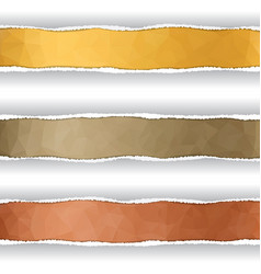 stripes in the torn off paper vector image vector image