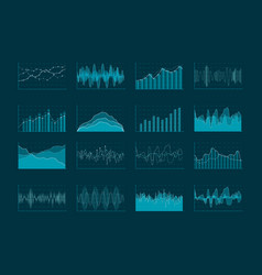 abstract business analytics and statistics vector image
