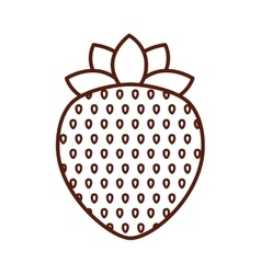 delicious strawberry fruit isolated icon design vector image