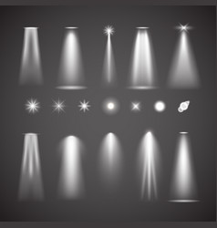 different light effect elements bright lights vector image vector image
