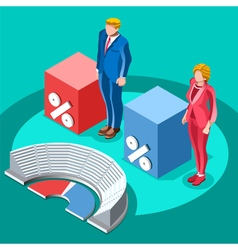 Election Infographic Congress Meeting Isometric vector image vector image