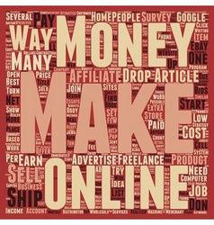 Low cost ways to make money online text background vector