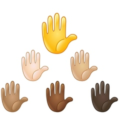 raised hand emoji vector image vector image