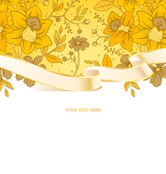 ribbon floral vector image vector image
