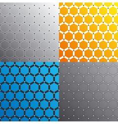 seamless geometric pattern set vector image vector image