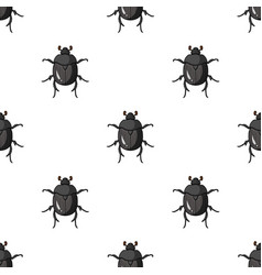 Dor-beetle icon in cartoon style isolated on white vector