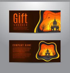 gift voucher for halloween vector image vector image