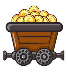 money trolley icon flat style vector image vector image