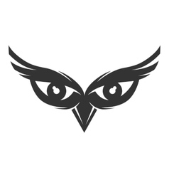 Owl eyes logo vector image