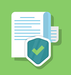 protected document concept of information vector image