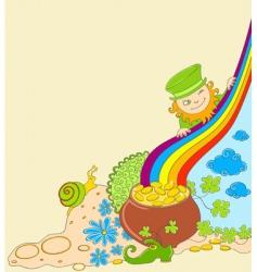St Patrick's leprechaun vector image