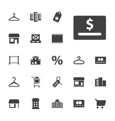 22 retail icons vector