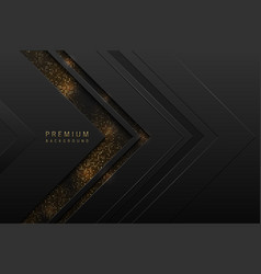 Abstract black layered background with vector