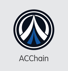 Acc - acchain the crypto coins or cryptocurrency vector