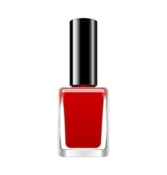background with red nail polish vector image