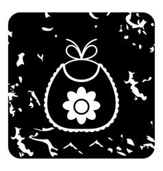 Bib icon grunge style vector