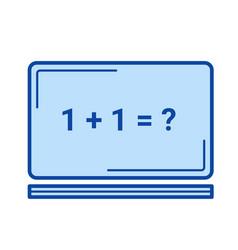 blackboard line icon vector image