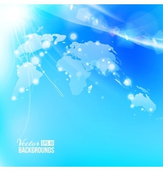 Blue image of globe Globalization concept vector image