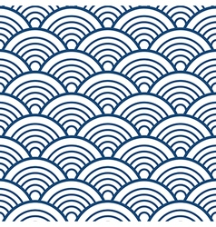 Blue White Traditional Wave Japanese Chinese vector