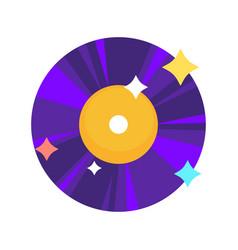 bright shiny vinyl record vector image
