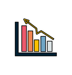 Business statistic data growing diagram vector