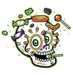 calavera sugar skull vector image